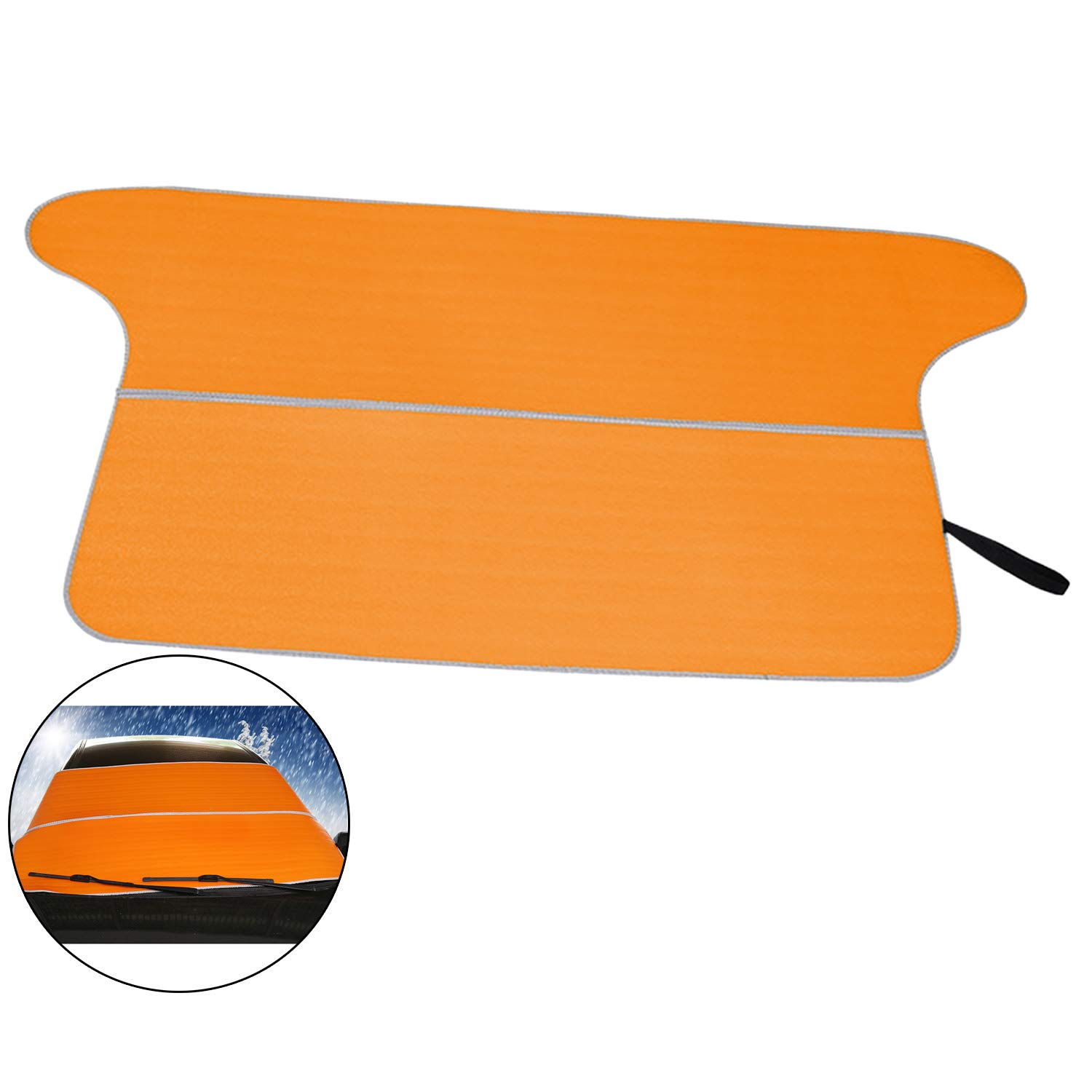 ZXK CO Car Windshield Snow Ice Cover, Sun Shade Protector with Cotton Thicker Snow Protection Cover Visa Shade for Cars Trucks Vans and SUVs Stop Scraping with a Brush or Shovel Yoga Mat Picnic Cloth by ZXK CO