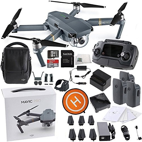 DJI Mavic Pro FLY MORE COMBO Collapsible Quadcopter Starters Landing Pad Bundle