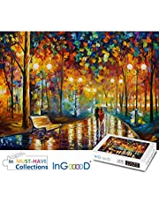 Ingooood-Jigsaw puzzle-Painting Series-Rainy Night Walk wooden puzzle 1000 pieces for adult
