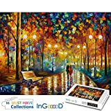 Ingooood Rainy Night Walk paper puzzle 1000 pieces gray card jigsaw puzzle adults