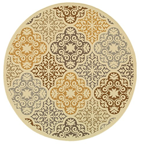 Oriental Weavers 4904W Bali Round Outdoor/Indoor Area Rug, 7-Feet 10-Inch - Round Outdoor Rugs For Patios: Amazon.com