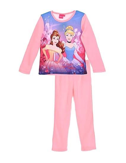 0b10e4c30047e Pyjama Polaire Fille Disney Princesses Belle et Cendrillon Rose de 3 à  6ans  Amazon.fr  Vêtements et accessoires