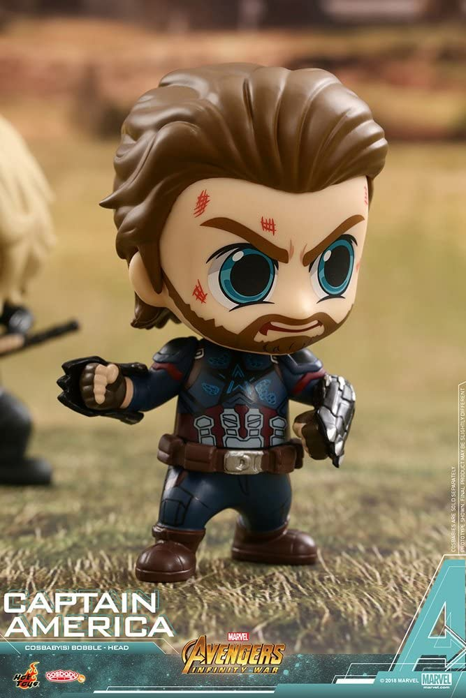 Bobble-Head Hot Toys COSB429 Avengers Infinity War Captain America Cosbaby S