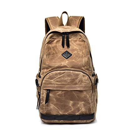 Mochilas tipo casual/Mochilas infantiles,Mochilas impermeables lienzo parafina Retro lavado mochilas escolares de