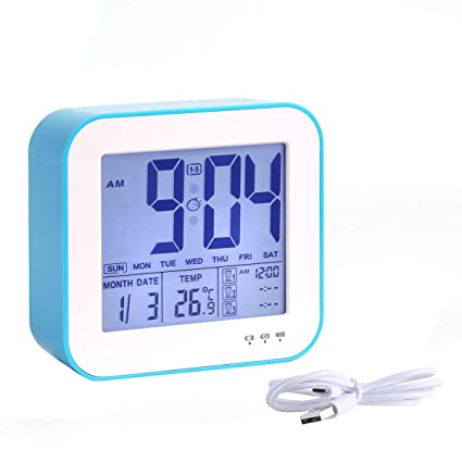 Careful Blue Backlight Digital Alarm Electronic Desktop Table Led Clock Watch Led Displays Time Electronic Adapter Tool Making Things Convenient For Customers Computer Cables & Connectors