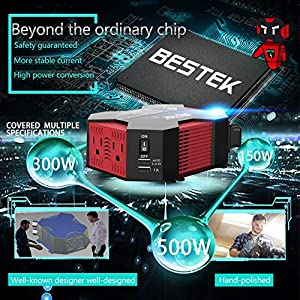 BESTEK Car Power Inverter 400W Modified Sine Wave Inverter 400W for Car with USB Auto Inverter 12v to 110v Dc to Ac Electronics Devices Inverter …