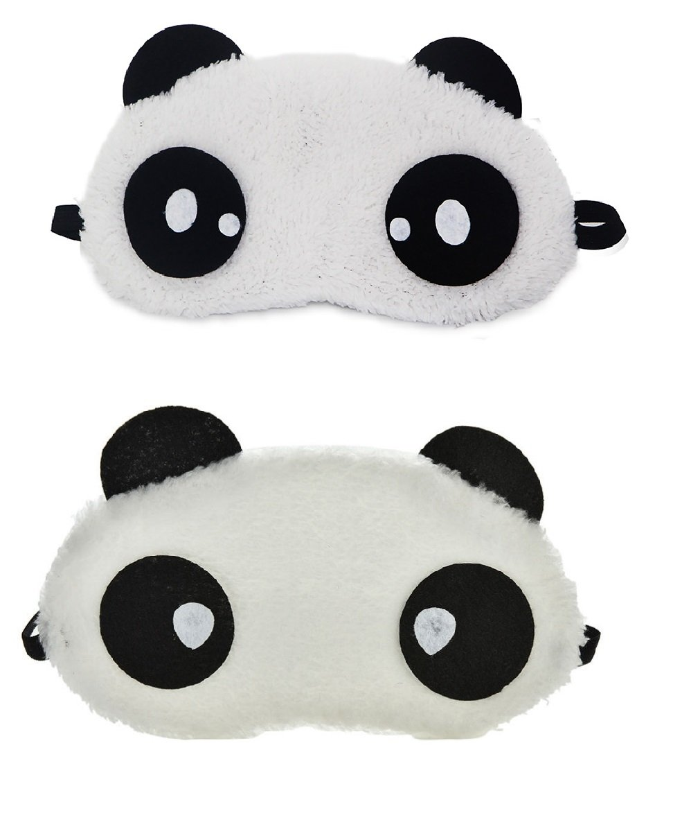 d3a4646c8d3 Buy Jenna Dot Eye s Panda Sleeping Eye Mask White (Pack of 2) Online at Low  Prices in India - Amazon.in