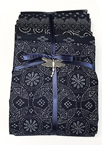 Japanese Asian Fat Quarter Color Pack (8 Fat Quarters) - Japanese Indigo Prints Assorted 4336996042