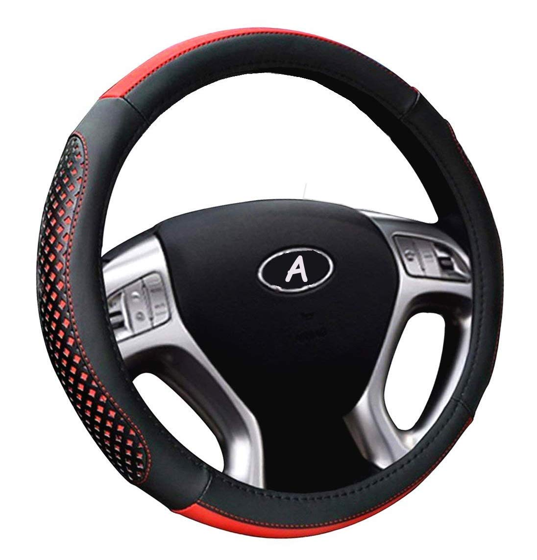Steering Wheel Cover Microfiber Leather Universal 14.5 to 15 Cover Inch Auto Car Steering Wheel Cover for Girls and Women