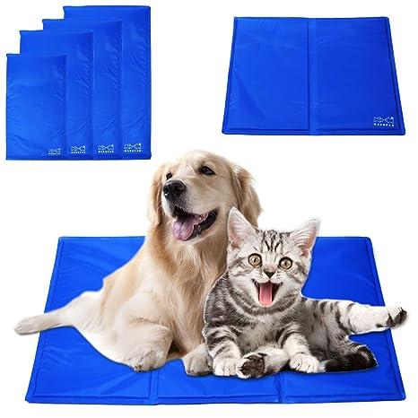 Gran perro de mascota Self alfombrilla de refrigeración Cooler Pad Cama para cojín azul Gel comodidad