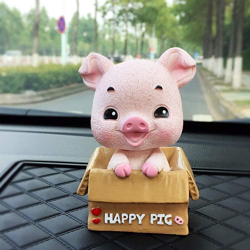 UZHOPM Cute Pig Car Dashboard Decoration Car Interior Ornament Home Office Desk Decorative (Pink)