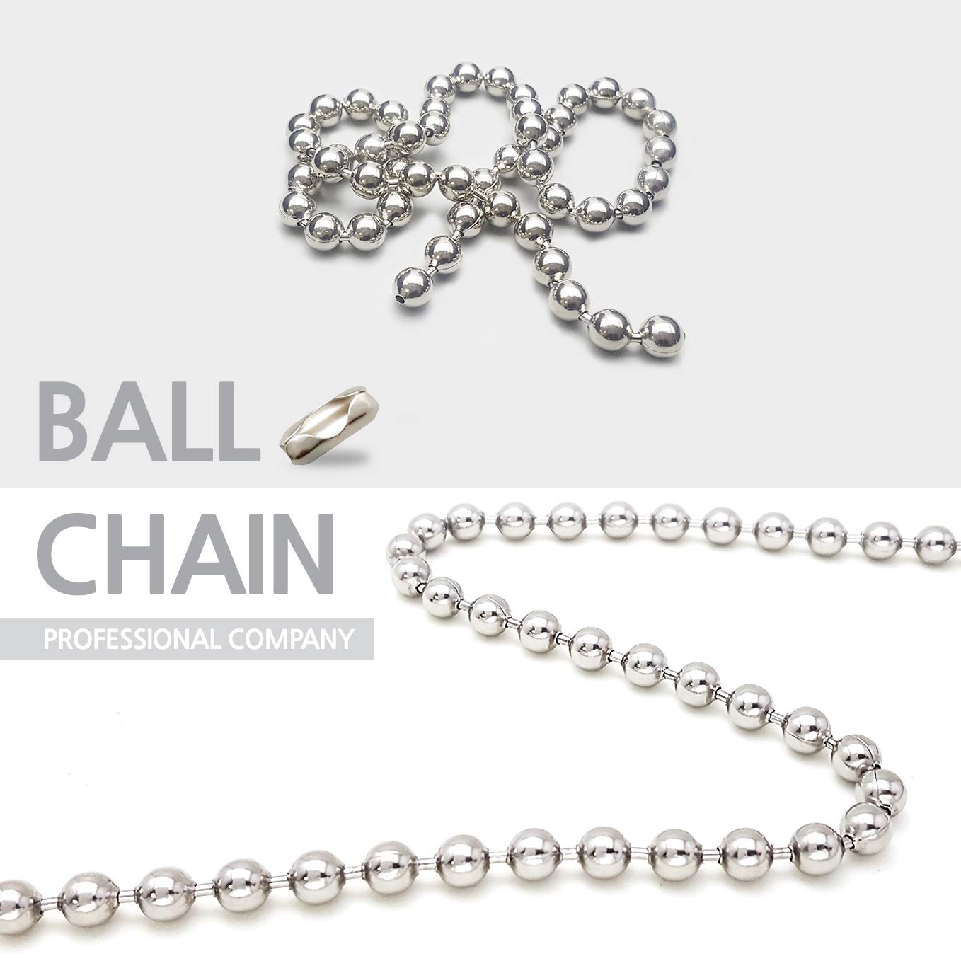 Ball Chain Number 6 Connectors Stainless Steel 50 Count