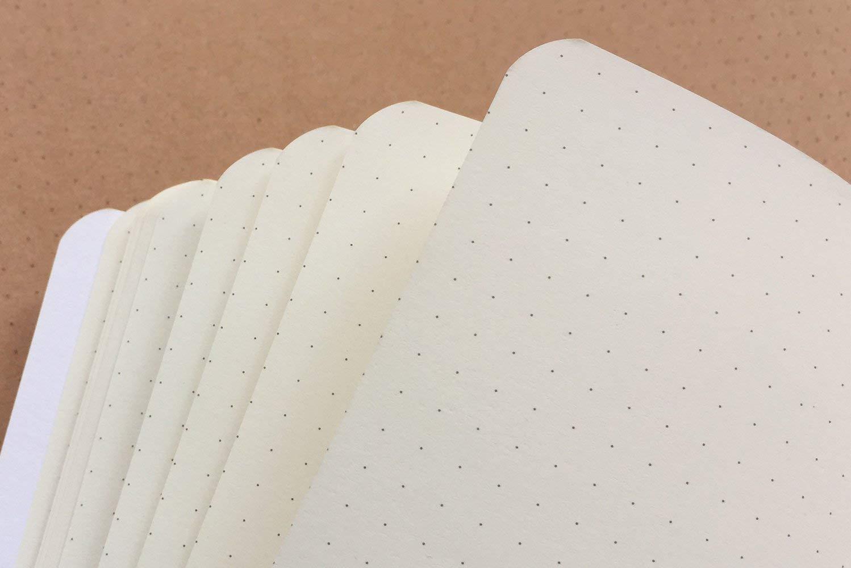 Agenda de viaje Blanco Cubierta marr/ón Papel kraft Hojas de papel de cuaderno 90 hojas 5,5 x 8,25 180 p/áginas negro Juego de 3 cuadernos de l/ínea horizontal A5