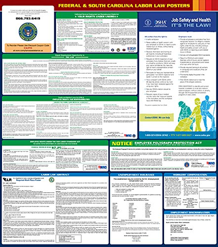 2017 South Carolina State and Federal All-in-one Labor Law Poster - English
