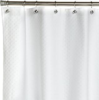 Peacock Alley Alyssa Shower Curtain, Standard, White