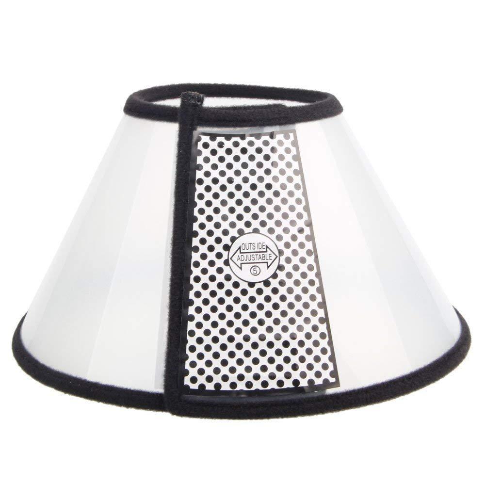 GawinAnser 1pc réglable en Plastique pour Animaux de Compagnie, Chien, cône de Chat de récupération Collier de récupération de plaie (1#)