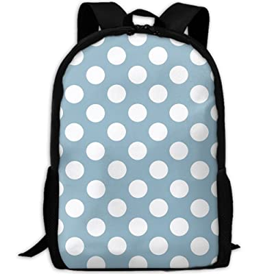 SZYYMM Blue Polkadot Oxford Cloth Casual Unique Backpack, Adjustable Shoulder Strap Storage Bag,Travel/Outdoor Sports/Camping/School For Women And Men