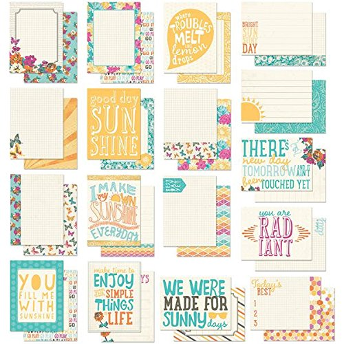 UPC 854158014224, Authentique Paper RAD014 Radiant Pocket/Life Project Card, 3 by 4-Inch, 34-Pack