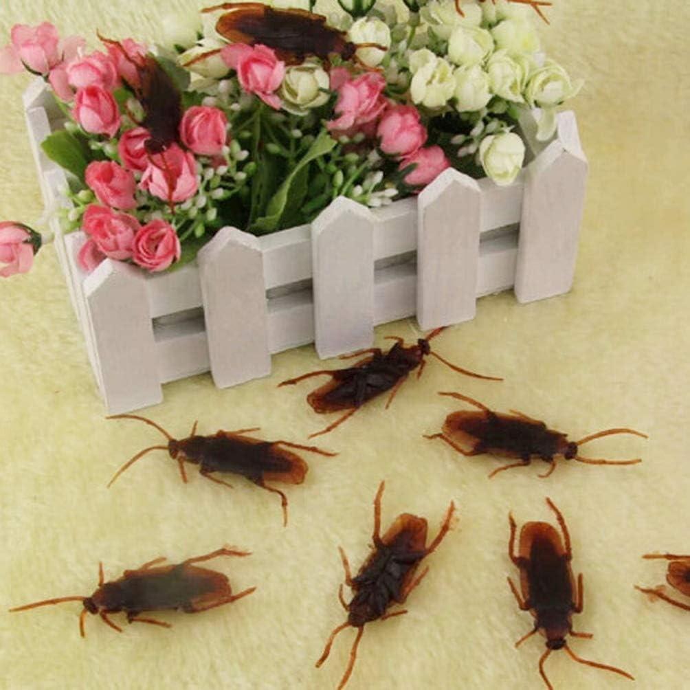 Wakauto Gef/älschte Kakerlaken Spinnen PVC Realistische K/äfer f/ür Halloween Party Gef/älligkeiten Und Dekoration 50Pcs