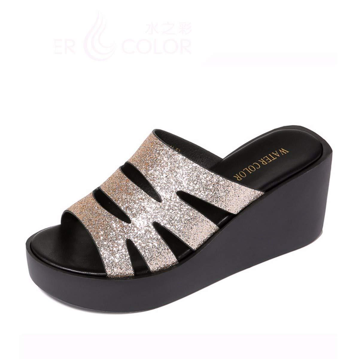 GTVERNH Frauen Schuhe/Beach - Pantoffeln Steigung Heels Meine Damen Sommer Mode Tragen