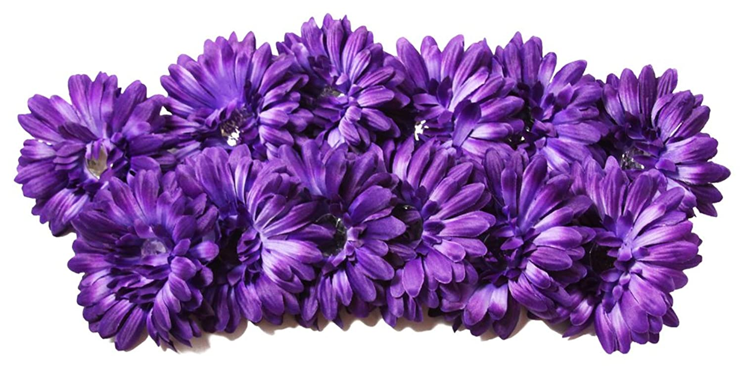 Chic 12 Piece 4 Crystal Gerbera Daisy Flower Hair Clips With