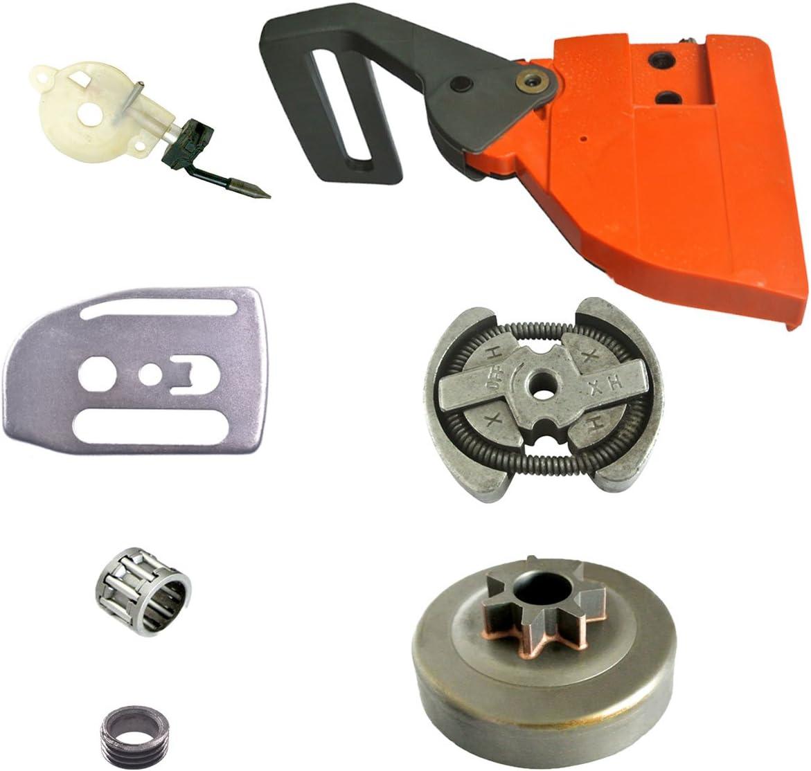 JRL Juego de manillas de freno de cadena, bomba de aceite, motosierra, pieza de repuesto para Husqvarna 136 137 141 142