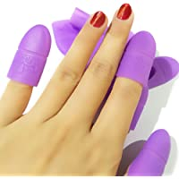 Coscelia 10 pc Silicona Nail Art Belleza Equipo Soak Off Cap Clip Gel UV Nail Polish Remover UV Gel (púrpura;)