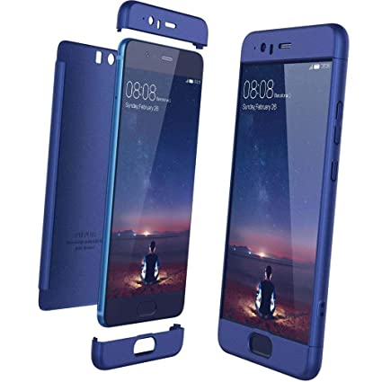 XCYYOO Funda para Huawei P10 Plus Custodia de 360°Caja Protectora PC Shell,Carcasa Huawei P10 Plus Silicona Snap On Diseño Antigolpes Choque Absorción ...