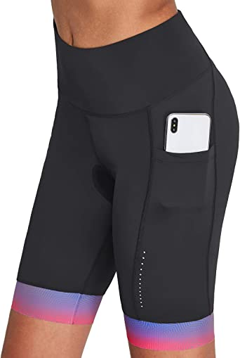 BALEAF Womens Cycling Underwear Shorts 3D Padded Gel Quick Dry Bicycle Shorts Lightweight Indoor Exercise Bike Shorts