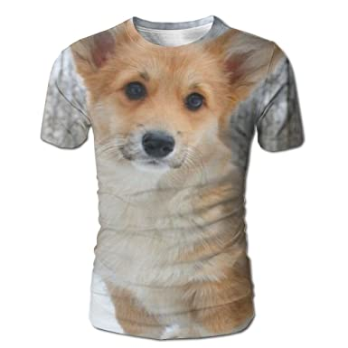 Corgi Dog T-shirt Men Funny Printed T Shirt Women Tops Tees Short Sleeve Casual Tshirts Tops & Tees