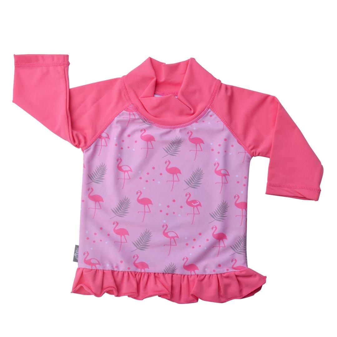 JAN & JUL UV Protective Swim Shirt Rash Guard Long SleeveToddler Girl (UV Shirt M: 6-18m, Flamingo) Twinklebelle Design Inc 21-07M