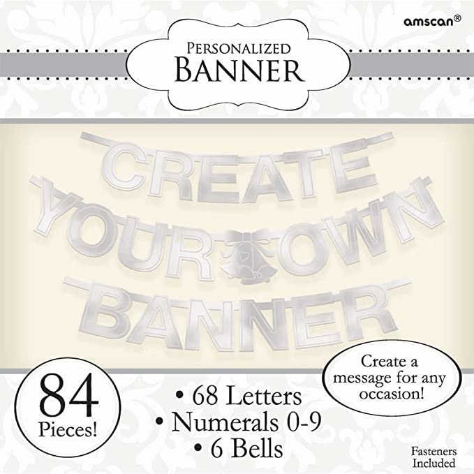amazon com create your own banner letter 84 pieces made from foil