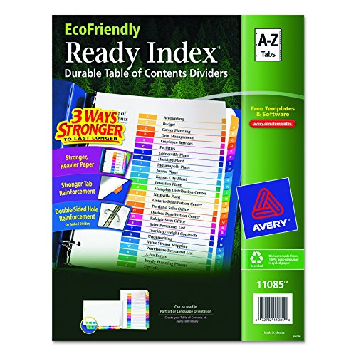 Avery EcoFriendly Contents Dividers 11085