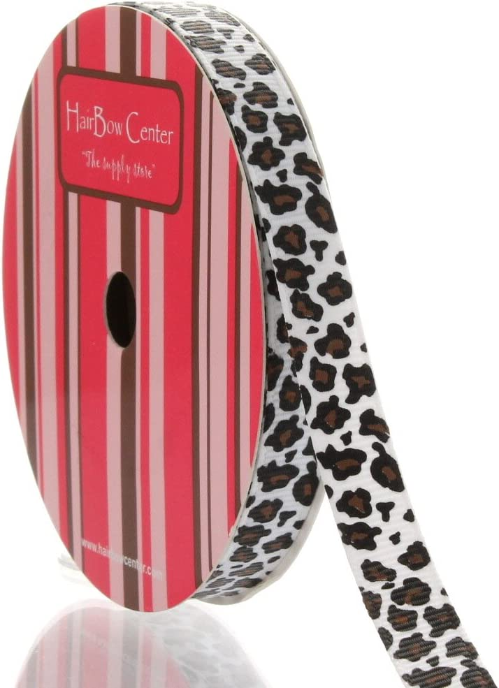 50 yds 7//8 inch grosgrain ribbon 2 yards of 25 colors dots /& cheetah
