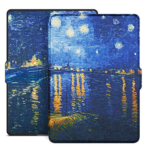 Ayotu Colorful Shell for All-New Kindle(8th Generation, 2016 Release) E-reader Auto Wake and Sleep Smart Protective Cover,Case for All-New Kindle (8th Generation) K8-9 The Starry Night - Rhone Cover