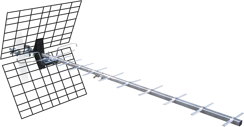 Metronic 425044 Antena Exterior 20 db para TV/TDT Gris