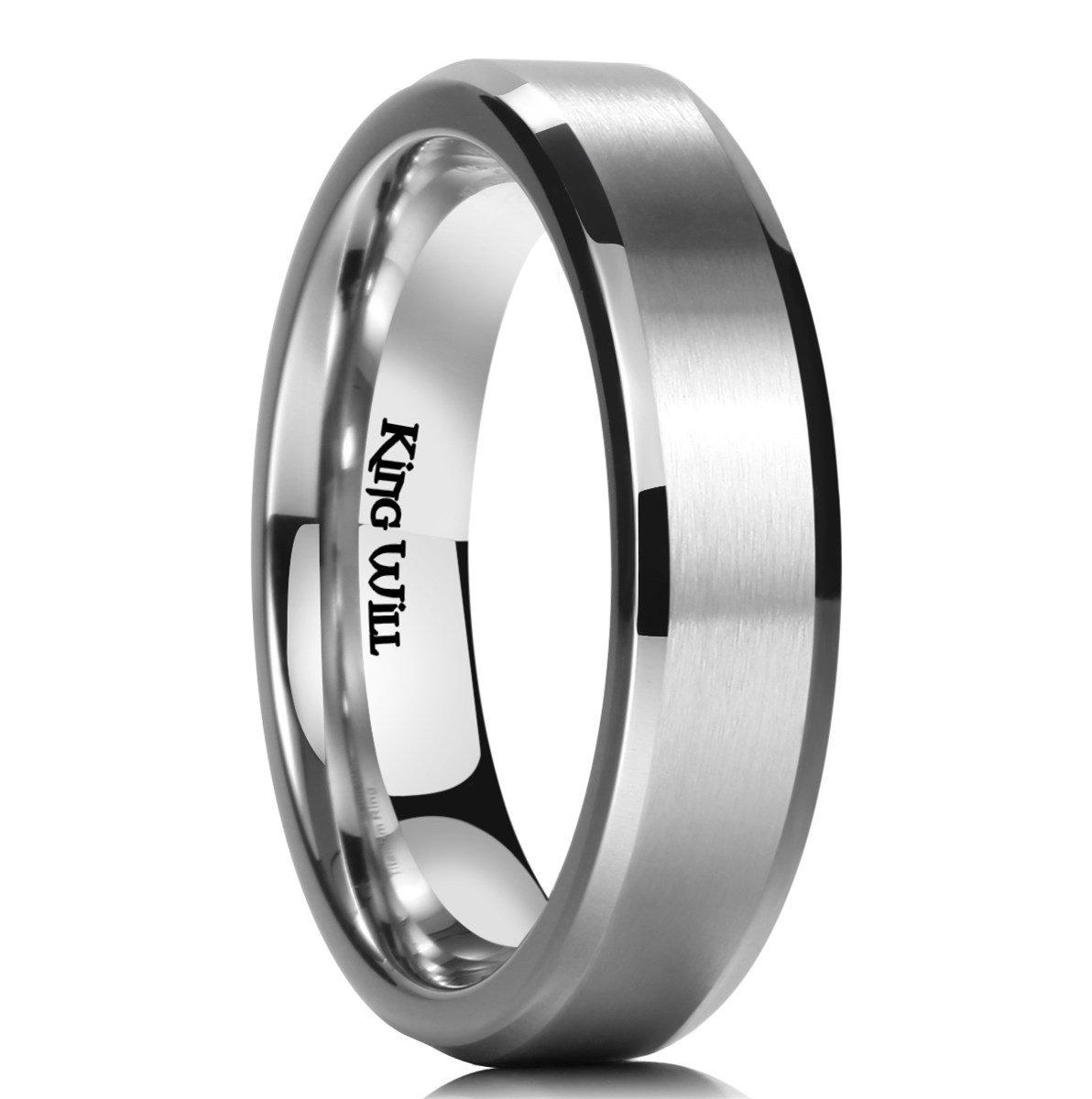 King Will BASIC 5mm Titanium Ring Brushed Matte Comfort Fit Flat Stainless Steel Wedding Band For Men Women9.5