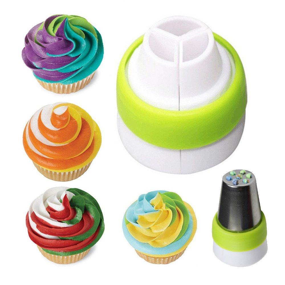 russo glassa piping ugelli punte pasticceria bag tri-color convertitore free-air Professional cake cupcake di torte per ugelli circa 3,7/cm
