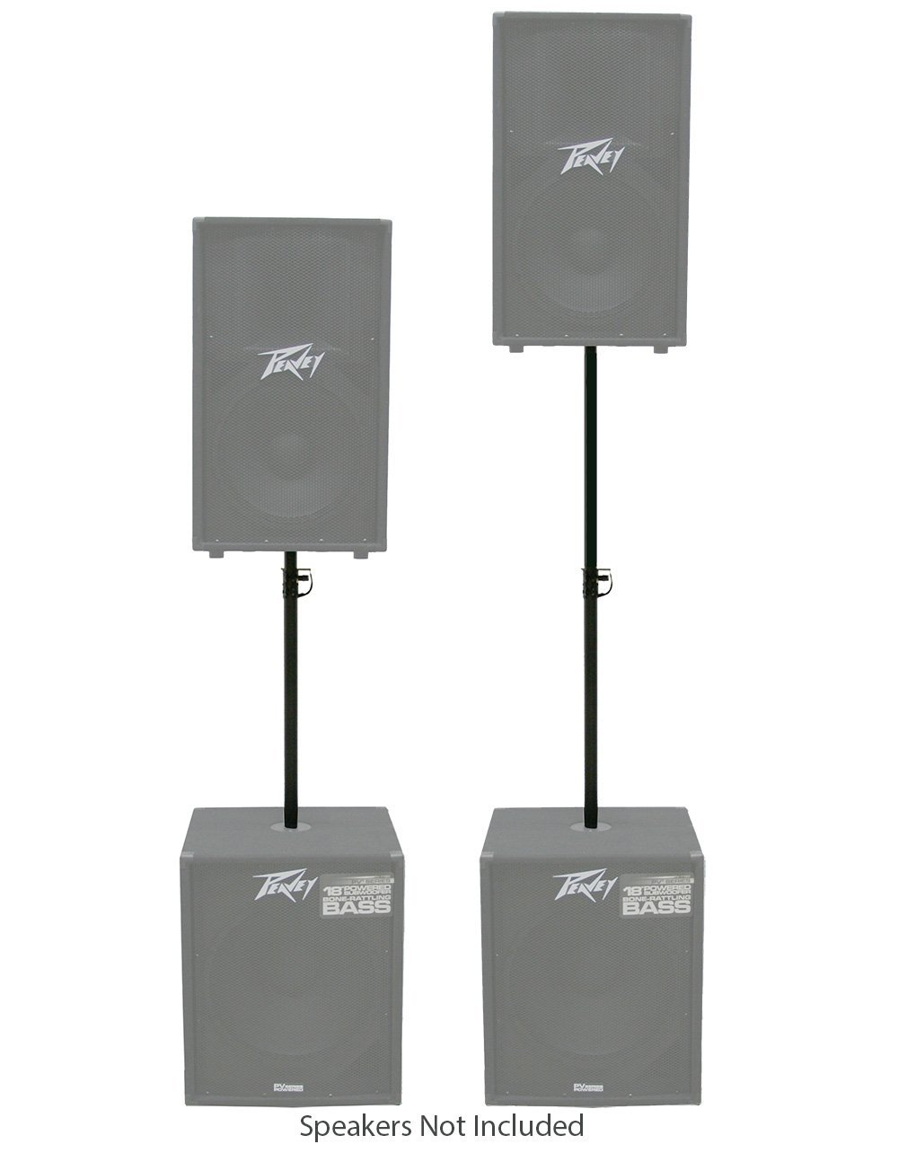 Pro Audio DJ Subwoofer Pole Mount Speaker Stand Adjustable Extension 35mm 1.375'' by American Sound Connection