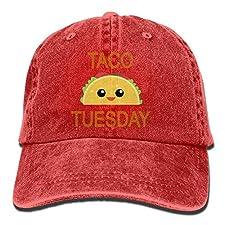 MDFY OEWGRF Taco Tuesday Adult Denim Dad Solid Baseball Cap Hat Black
