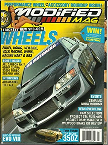 Modified Mag Magazine July 2004 SEMA IAS and NHRA Moroso, All Carbon RX-7, Twin Turbo 350Z and More Single Issue Magazine – 2004