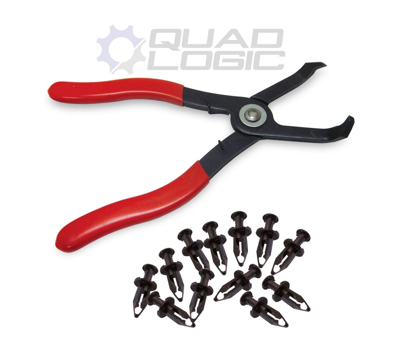 Polaris ATV UTV Plastic Body Rivet Pliers Tool and Rivets (SET OF 12) - 7661855