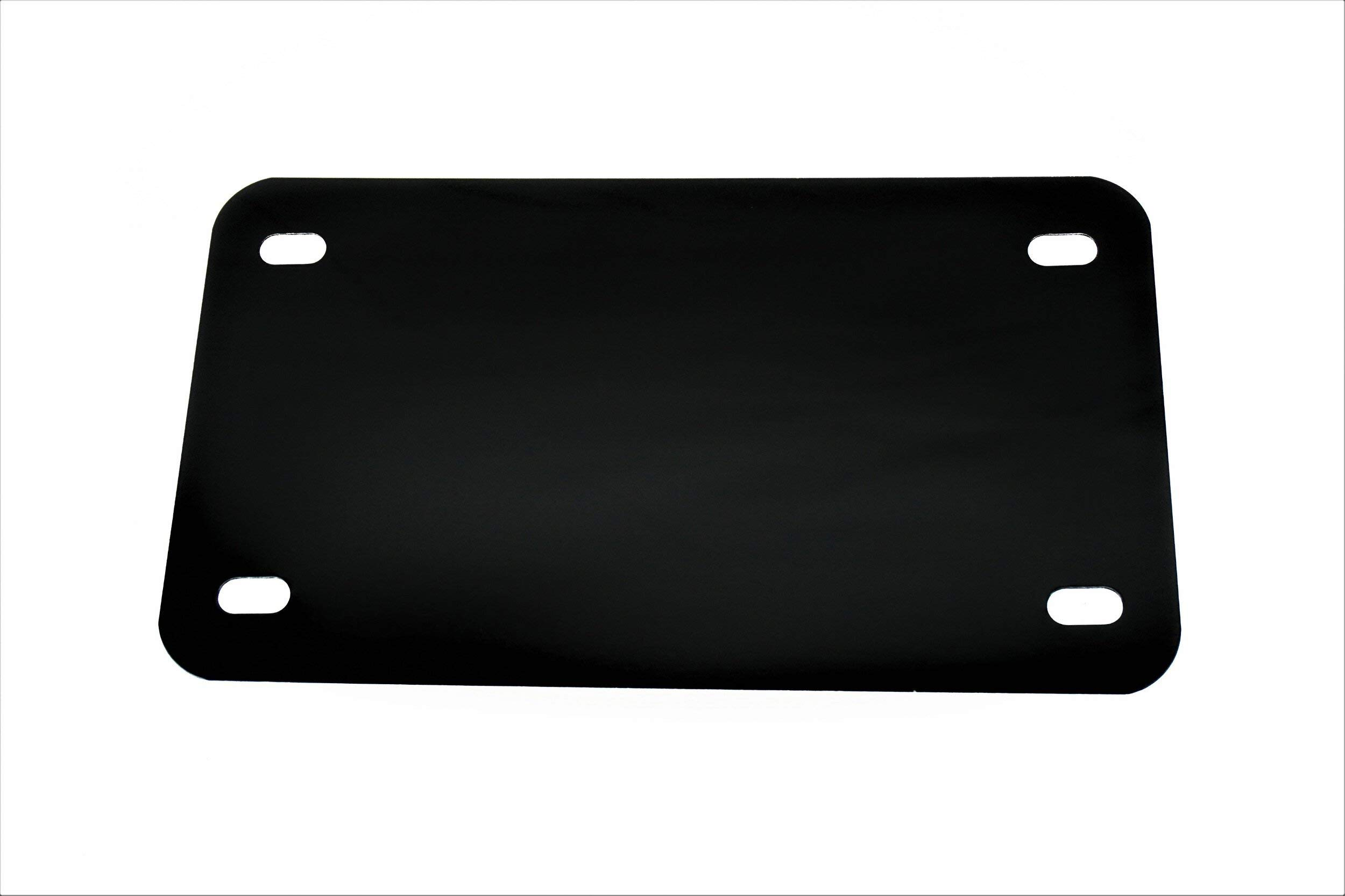 Black - Motorcycle Anodized Aluminum License Plate Blank - 0.025/0.5mm - 4x7 by Partsapiens Corp.