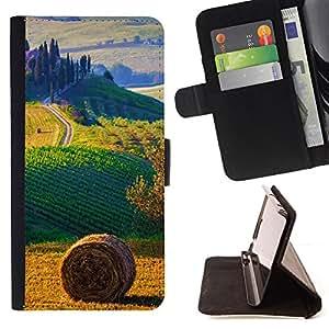 For Samsung Galaxy Note 4 IV,S-type campo paisaje italia- Dibujo PU billetera de cuero Funda Case Caso de la piel de la bolsa protectora