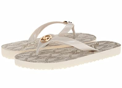 best choice 2018 shoes top fashion Michael Kors Flip Flops Rubber Vanilla Size 11 Womens Sandals