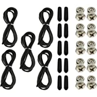 Prettyia 5 Sets Replacement Jump Rope Cord Cable Speed Rope Cables with Adjustment Screws End Cap Cover