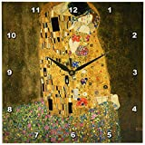 3dRose dpp_127171_1 The Kiss by Gustave Klimt Wall Clock, 10 by 10″ Review