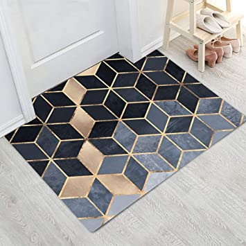 Amazon.fr : LUYIASI- Mode Moderne En Métal D\'or Tapis Gris ...
