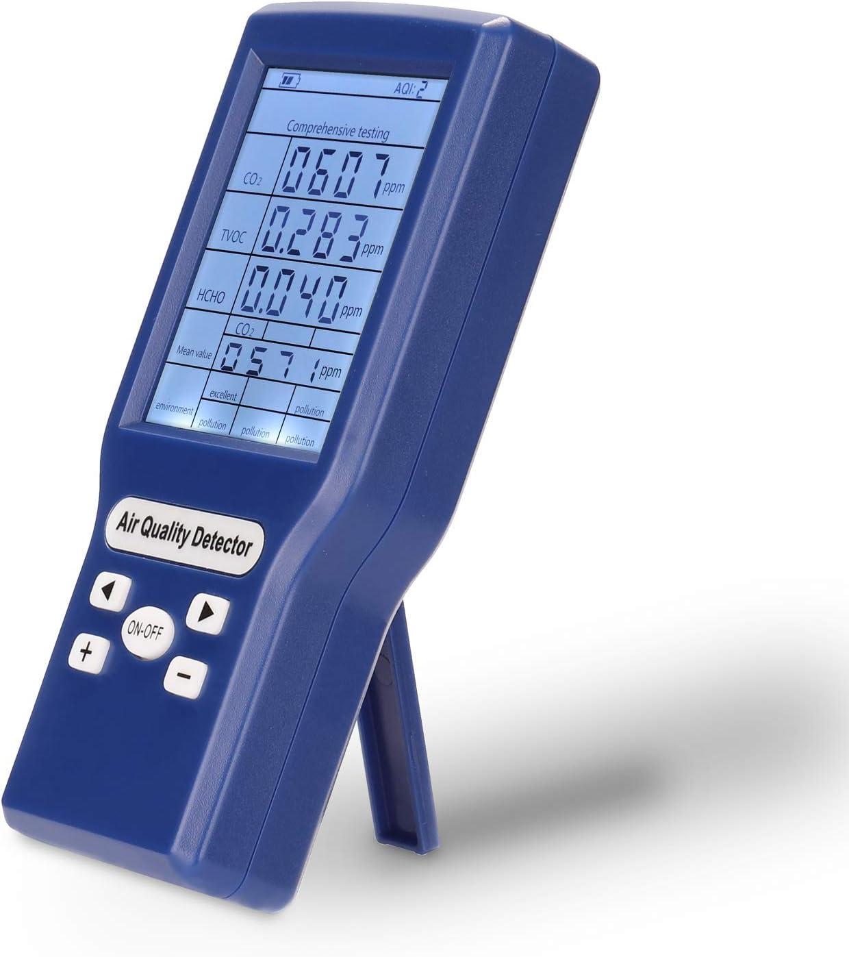 Fesjoy Multifunktionale CO2 ppm-Messger/äte Mini-Kohlendioxid-Detektor Gasanalysator Protable Air Quality Tester