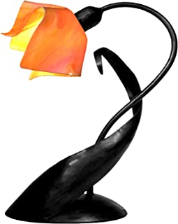 product image for Jezebel Radiance TLLD-B-FP12-TAG Flame Style Black Lazy Daisy Lamp, Tangerine